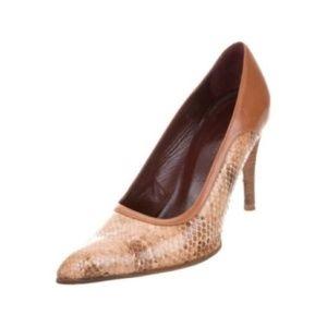 TOD'S skakeskin pointed-toe pumps #938